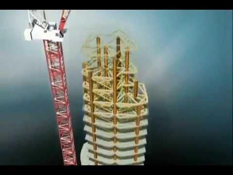 Burj Khalifa Burj Dubai Construction Animation U.A.E.