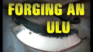 Forging an Ulu Style Herb Chopper