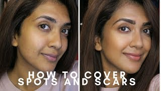 HOW TO COVER SPOTS AND SCARS   Vithya Hair and Makeup