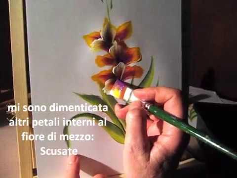 ONESTROKE TECNICA PITTORICA GLADIOLO .wmv