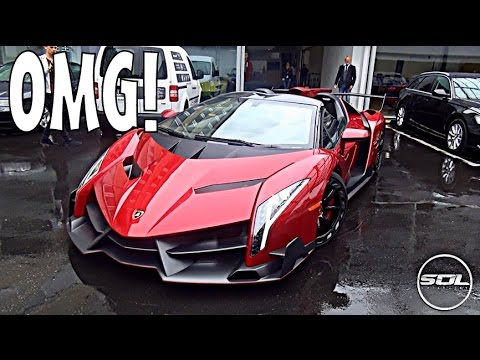 £3.4 Million Lamborghini Veneno Roadster SPACESHIP SUPERCAR