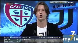 "DirettaStadio 7Gold Cagliari Juventus 0-1 Oppini:""VAR? Il problema è vostro!"""