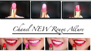 CHANEL New Rouge Allure Luminous Intense Lipstick Review &Swatches