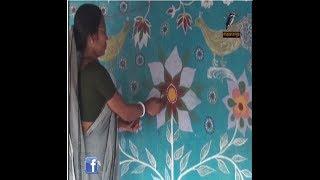 Alpona Gram, অবাক গ্রাম বউ-ঝিদের শিল্প কর্ম গ্রামের সব বাড়ি রঙিন আল্পনায়