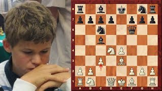 Amazing Chess Game : Magnus Carlsen vs Peter Leko - Pearl Springs 2009 - Scotch game