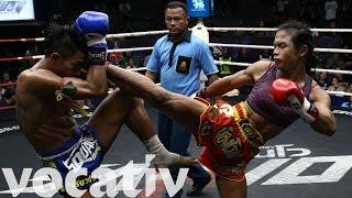 Transgender Thai Boxer Earning Respect From Opponents