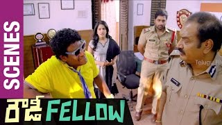 Rowdy Fellow Telugu Movie Scenes | Satya Hilarious Comedy in Police Station | Nara Rohit