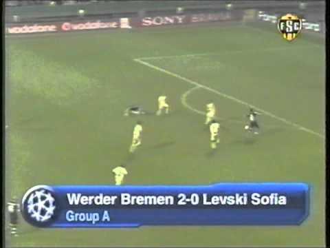 2006 October 18  Werder Bremen Germany 2 Levski Sofia Bulgaria 0 Champions League