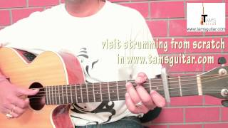 Bezubaan (Piku) guitar lesson easy chords for beginners with capo|Anupam Roy| (www.tamsguitar.com)