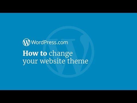 WordPress Tutorial: How to Change Your Website Theme on WordPress.com