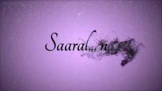 Saaral Nee   The Music Album   Trailor HD   Sollaai Manamey