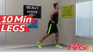 12 Min Devastation Leg Workout at Home without Equipment - Legs Exercises - Leg Workouts
