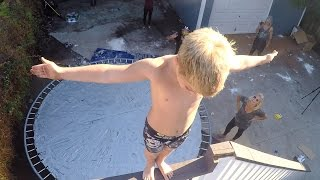 Duct Tape Trampoline Leap of Faith w/ Rocco Piazza!