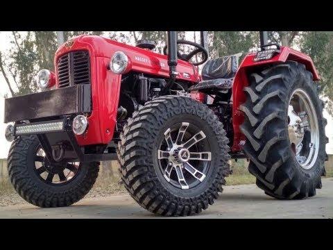 Modified Massey Ferguson TAFE 1035 tractor looks like Red ferrari