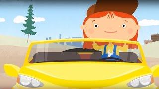 Zeichentrick Doktor Mac Wheelie: Können Autos fliegen? Deutsch lernen. Cartoon für Kinder