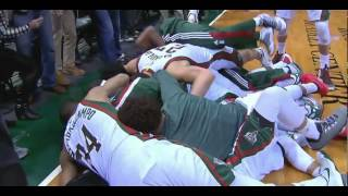 Khris Middleton game-winner buzzer-beater three-pointer: Miami Heat at Milwaukee Bucks