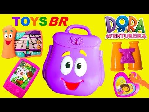 TOYSBR Mochila Surpresa da Dora a Aventureira em Portugues BR Dora the Explorer Backpack Surprise
