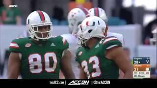 Virginia vs Miami College Football Condensed Game 2017