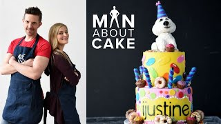 iJustine DREAM Birthday Cake Collab with Man About Cake | Sculpted Dog Cake Topper