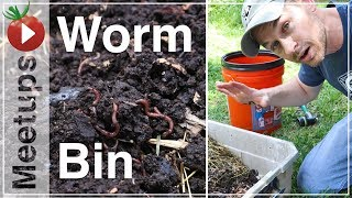 How To Make A Worm Bin Using Rabbit Manure - Monday Meetups with Better Together Life