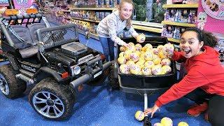 87 LOL Surprise Dolls Confetti Pop Toy Hunt! Power Wheels Ride On Car   Toys AndMe