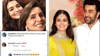 Mother Neetu Kapoor Gives THUMBS UP For Alia Bhatt And Son Ranbir Kapoor