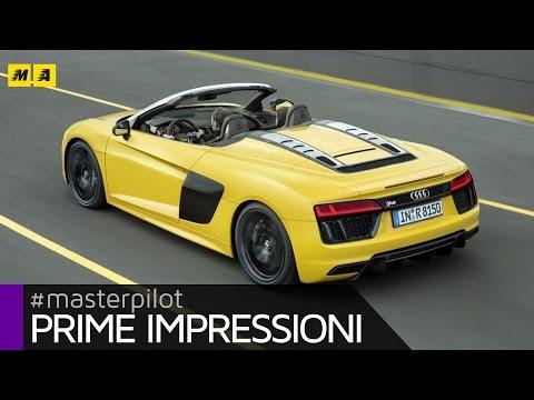 Audi R8 Spyder Primo test ENGLISH SUB