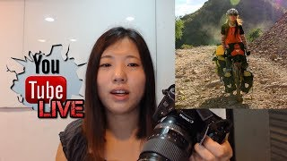 How to take picture of yourself while traveling alone? | Livestream