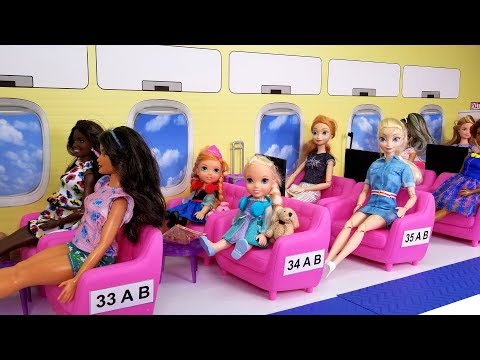 Xxx Mp4 Airplane Elsa And Anna Toddlers In Barbie's Plane Vacation Trip 3gp Sex