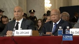 Booker, Lewis testify against Sessions for AG