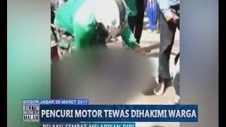 Video Amatir, Seorang Pencuri Motor Tewas Dihajar Warga yang Kesal - BIM 30/03