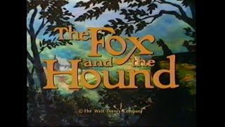 THE FOX AND THE HOUND MOVIE TRAILER [VHS] 1981/1999