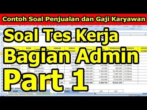 Soal Tes Masuk Kerja Bagian Admin Part 1