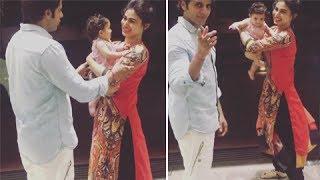 Karanvir Bohra's Baby Wants To Stay With Mouni Roy | Naagin 2 | TellyMasala