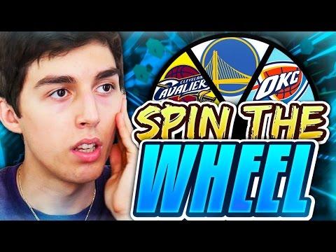 SPIN THE WHEEL OF NBA TEAMS! NBA 2K17 SQUAD BUILDER