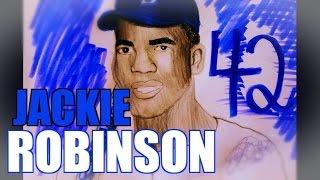 How to Draw- JACKIE ROBINSON- Brooklyn Dodgers