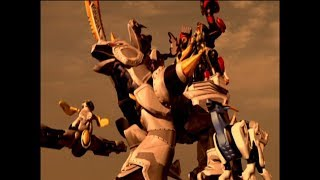 Stampede Formation First Megazord Battle | Power Rangers Jungle Fury (Episode 22)