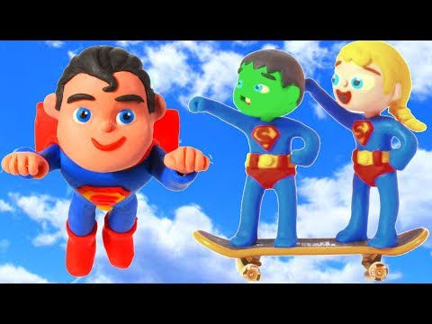 Xxx Mp4 SUPERHERO BABIES MEET SUPERMAN ❤ SUPERHERO PLAY DOH CARTOONS FOR KIDS 3gp Sex