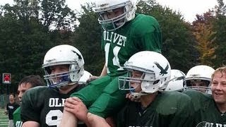 Middle school football team's life-changing play