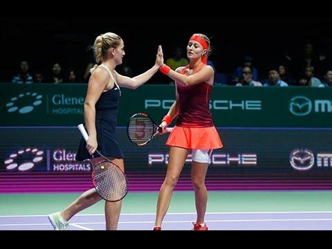 Babos/Mladenovic   2015 WTA Finals Hot Shot