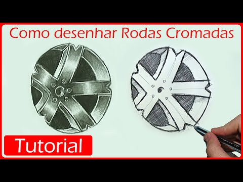 How to draw cars chrome wheels