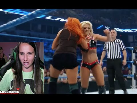 WWE Smackdown 8/9/16 Alexa Bliss vs Becky Lynch
