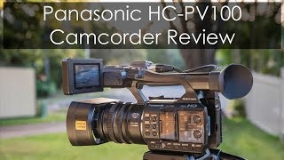 REVIEW on the PANASONIC HC-PV100 Camcorder