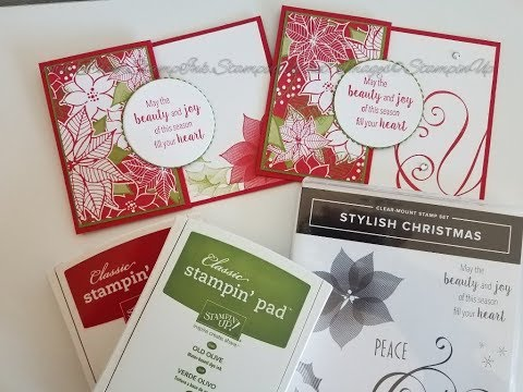 Xxx Mp4 Fun Fold Card Quick Christmas Card Using Stampin39 Up Stylish Christmas And Under The Mistletoe DSP 3gp Sex