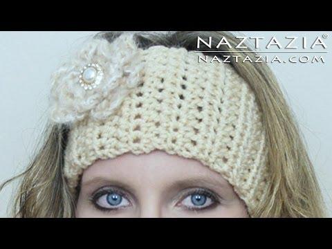 DIY Learn How to Crochet Easy Headband Wrap with Flower Hair Head Band Ear Warmer