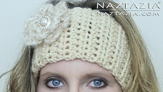 Download DIY Learn How to Crochet Easy Headband Wrap with Flower (Hair Head Band Ear Warmer) 3Gp Mp4