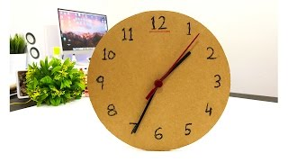 How To Make $1 Wall Clock or Table Clock From Cardboard MrExpert