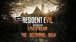RESIDENT EVIL 7: The Beginning Hour Blind Livestream Playthrough No Commentary