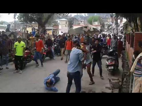 youth fighting in kangra(H.P.)  beat with Baseball bat on 26th March,2016