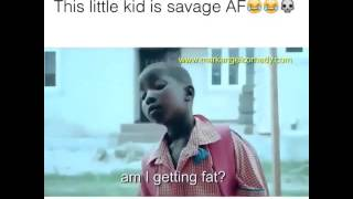 African girl calls her aunty fat